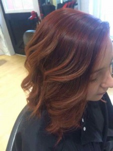 Matrix Colour Melt hair colouring in Falmouth at NV Hairdressing
